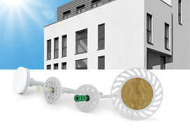 Systems for thermoinsulation wallsfasteners