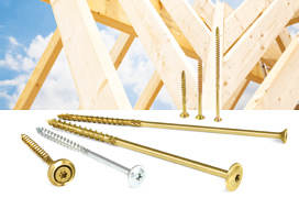 Screws and fasteners for wooden constructions